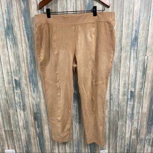 Chico's Zenergy Vegan Suede Pants sz 3 (XL 16)